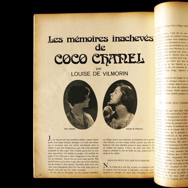 chanel_louise_de_vilmorin_memoires_inachevees_de_coco_chanel_1971_jour_de_france_1