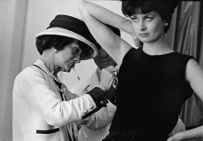 Coco Chanel working Paris atelier 1962 by Douglas Kirkland