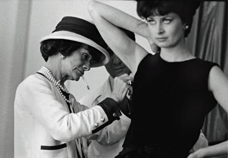 Coco Chanel working Paris atelier 1962 by Douglas Kirkland